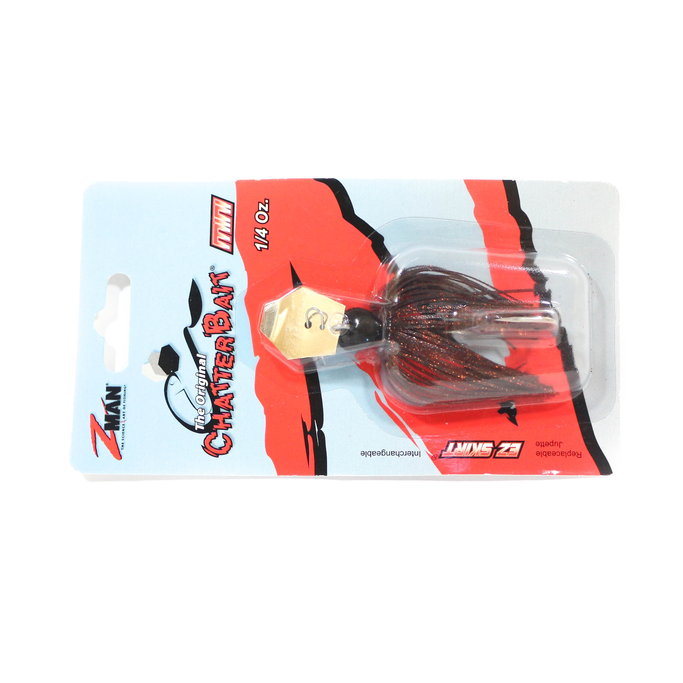 Zman Chatterbait Mini 1/4 oz Sinking Lure Brown Black (0259)