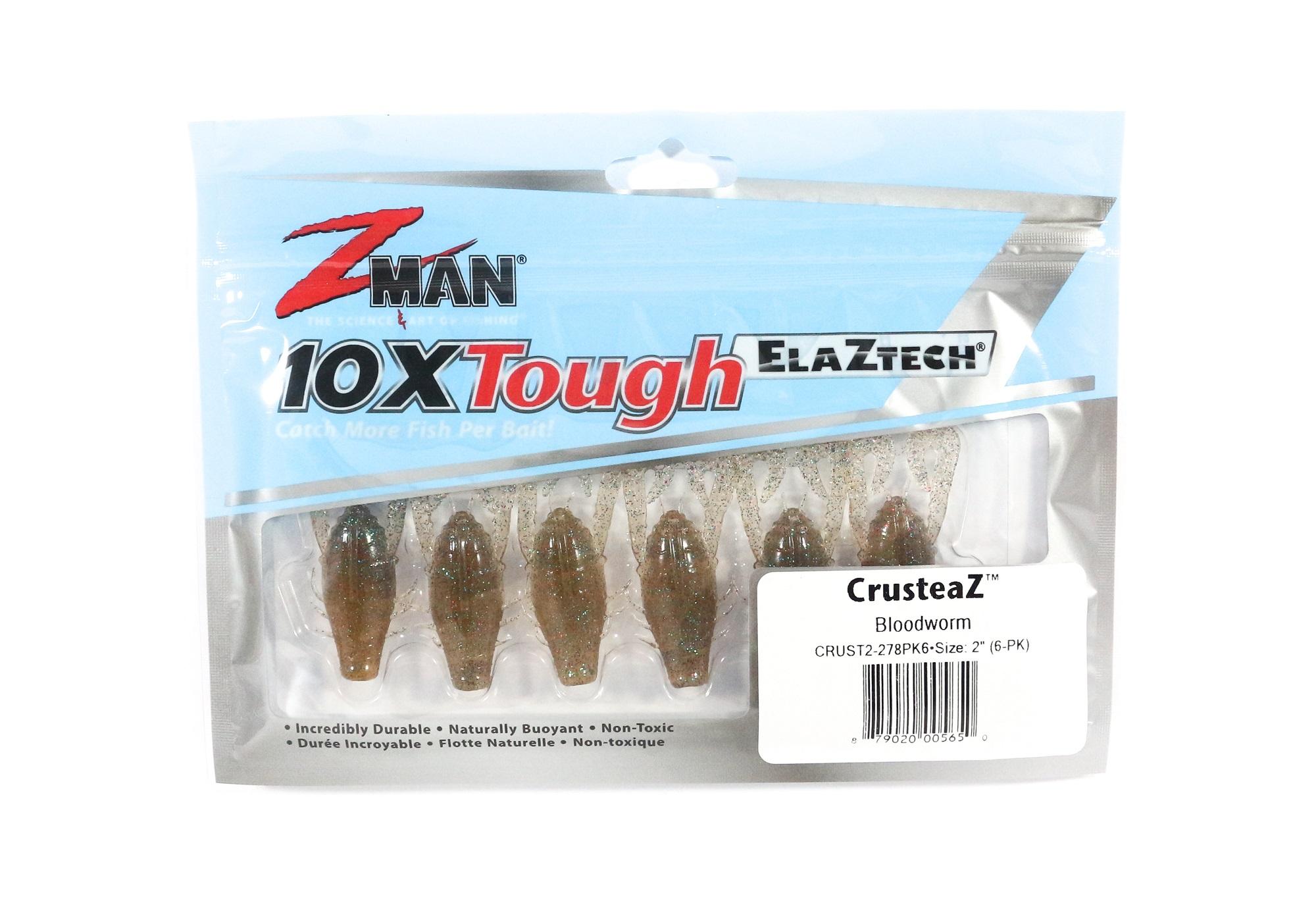 Zman Soft Lure CrusteaZ 2 Inch 6 per pack Blood Worm (5650)