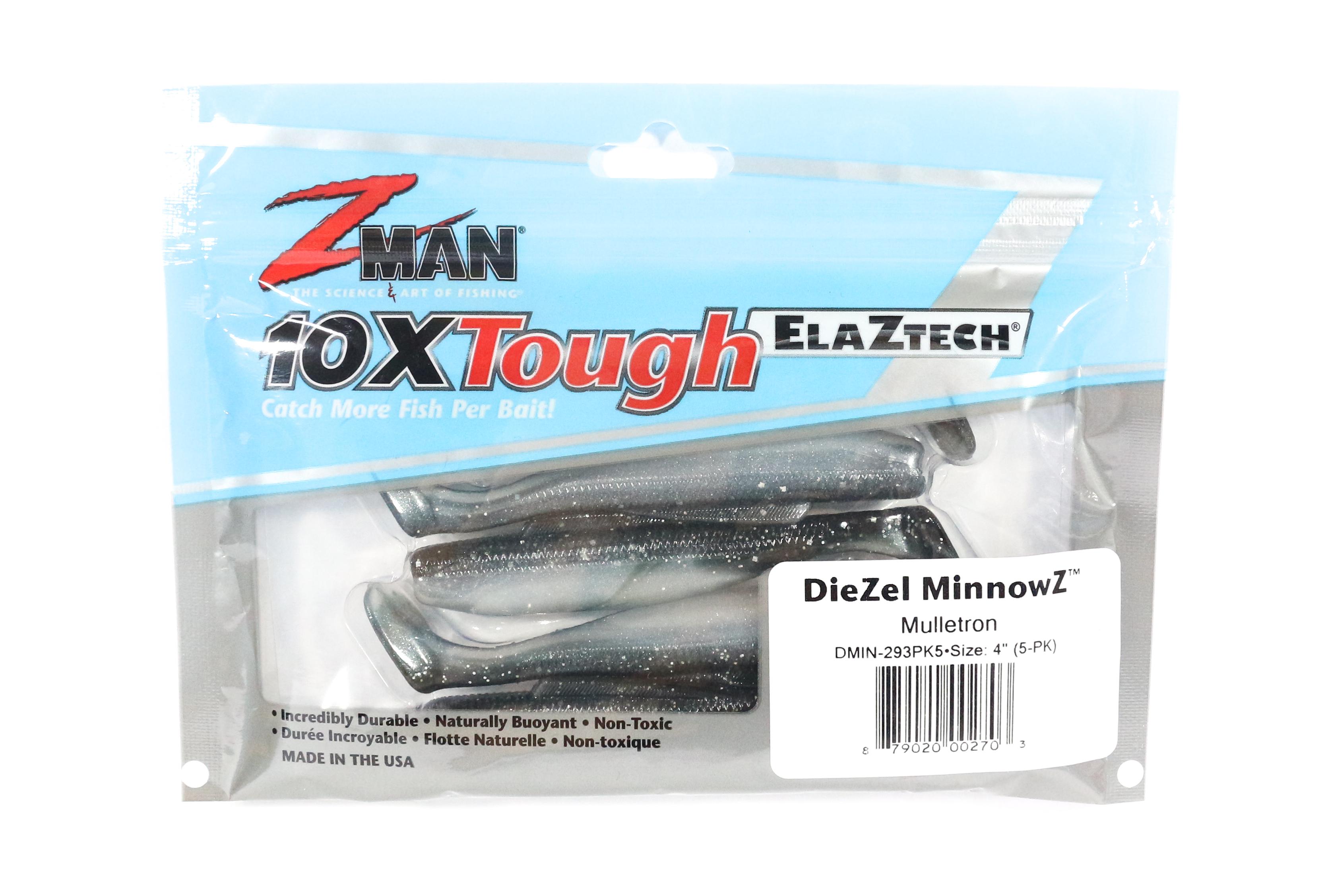 Soft Lure Hard Leg Frogz 4 Inch 3 per pack Mud Minnow Zman 0440