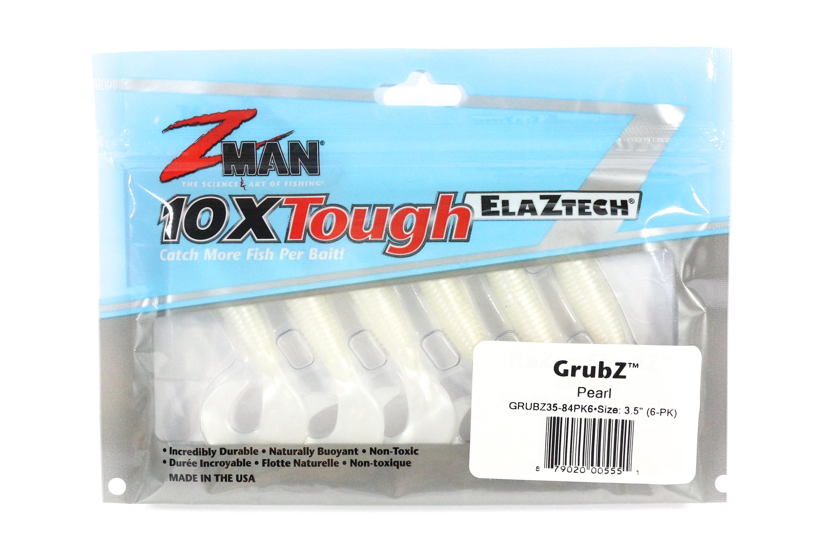 Zman Soft Lure GrubZ 3.5 Inch 6 per pack Pearl (5551)