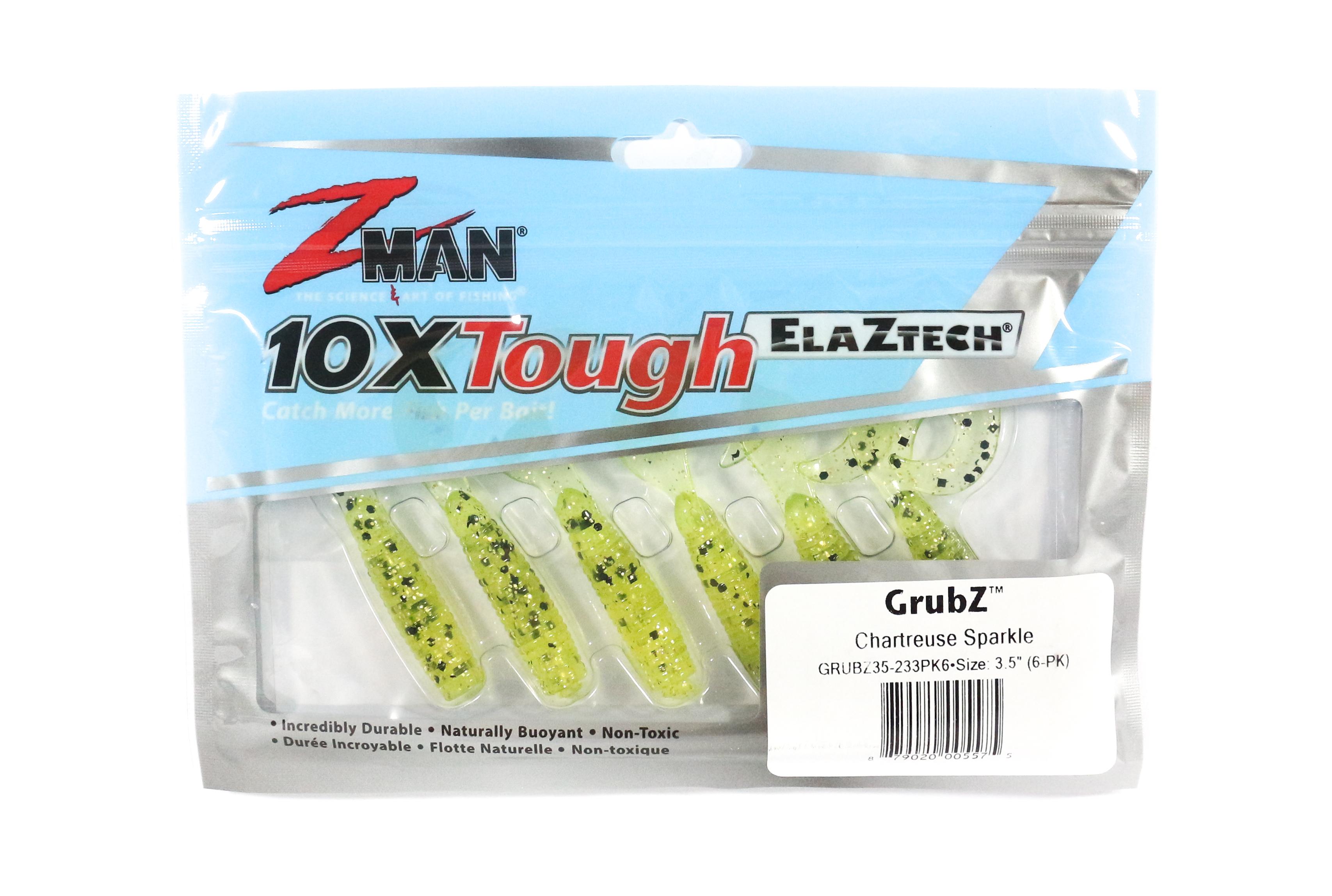 Zman Soft Lure GrubZ 3.5 Inch 6 per pack Chart Sparkle (5575)