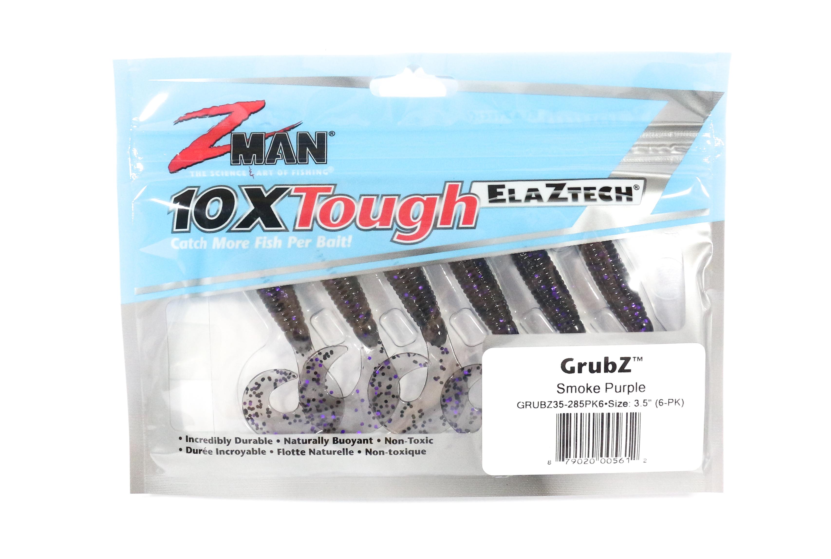 Zman Soft Lure GrubZ 3.5 Inch 6 per pack Smoke Purple (5612)