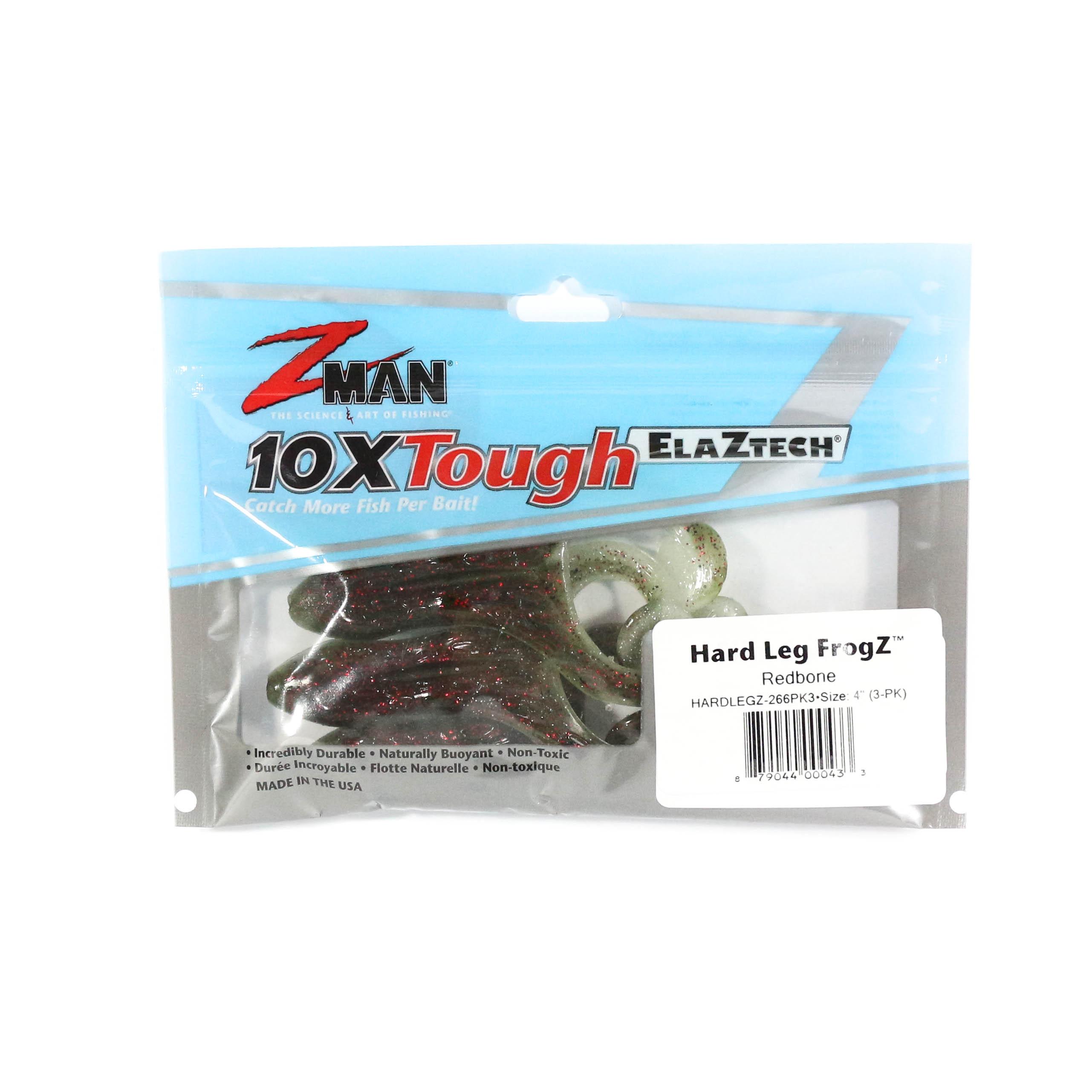 Zman Soft Lure Hard Leg Frogz 4 Inch 3 per pack Redbone Glow (0433)
