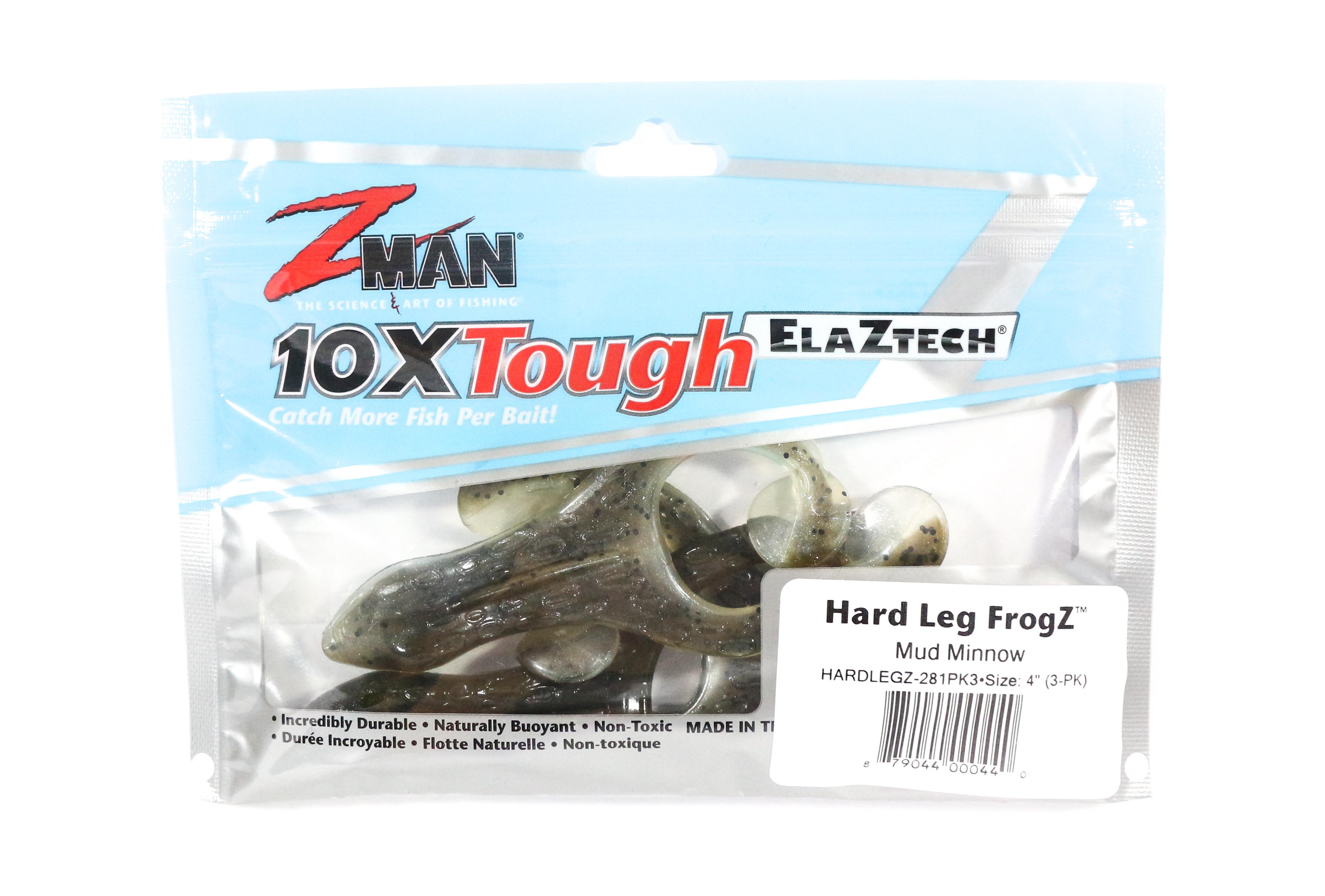 Zman Soft Lure Hard Leg Frogz 4 Inch 3 per pack Mud Minnow (0440)