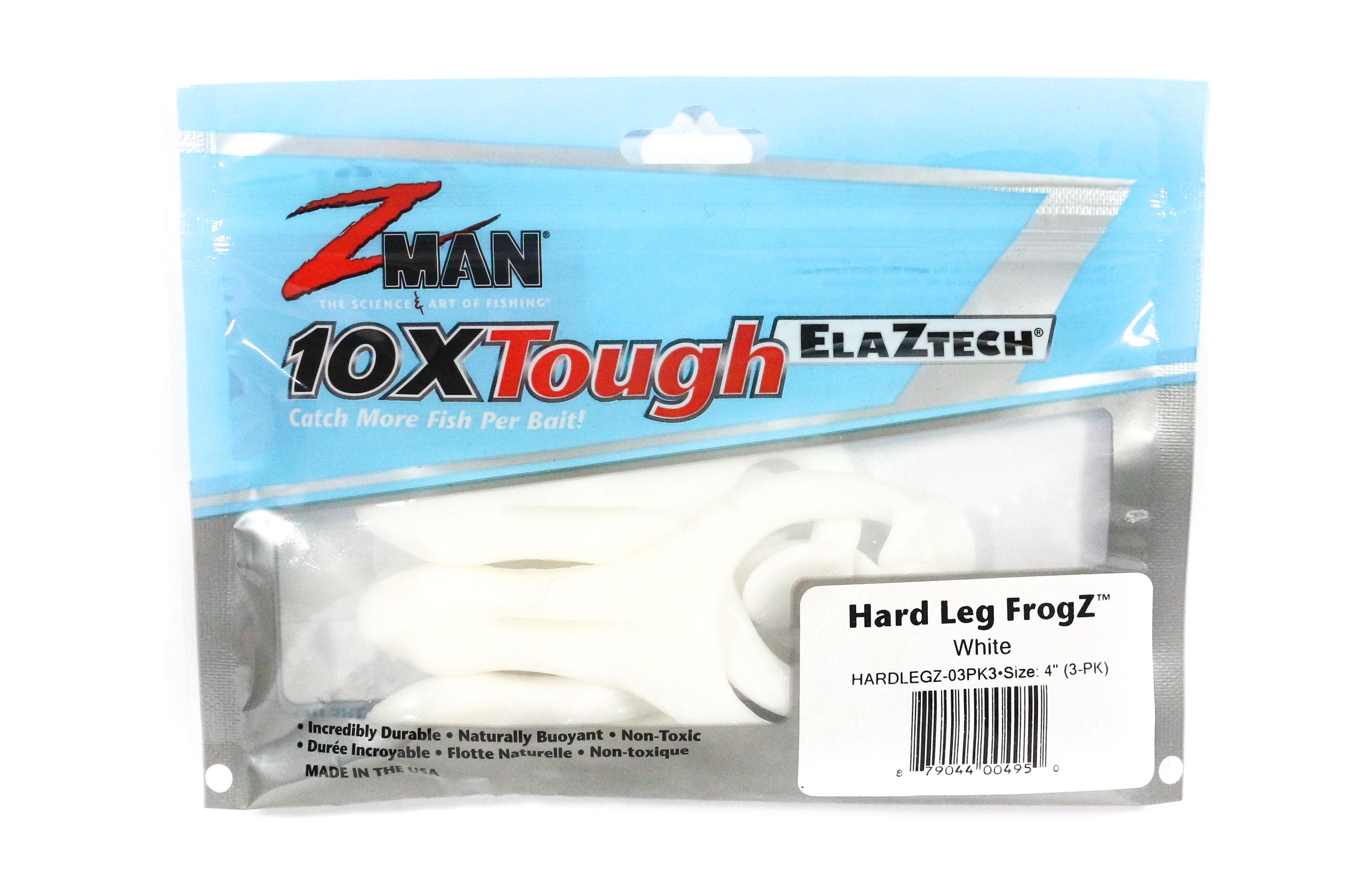 Zman Soft Lure Hard Leg Frogz 4 Inch 3 per pack White (4950)