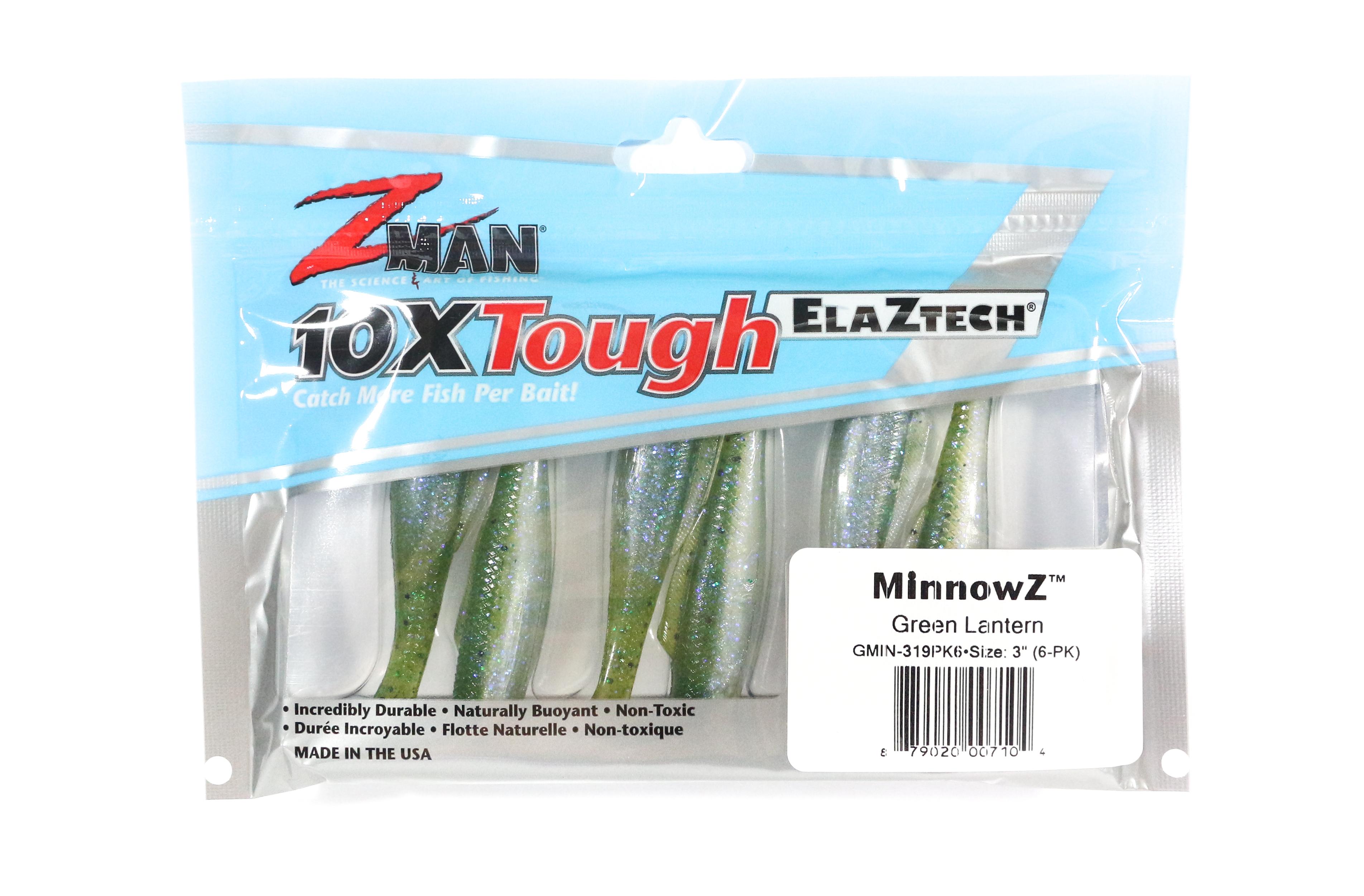 Zman Soft Lure MinnowZ 3 Inch 6 per pack Green Lantern (7104)