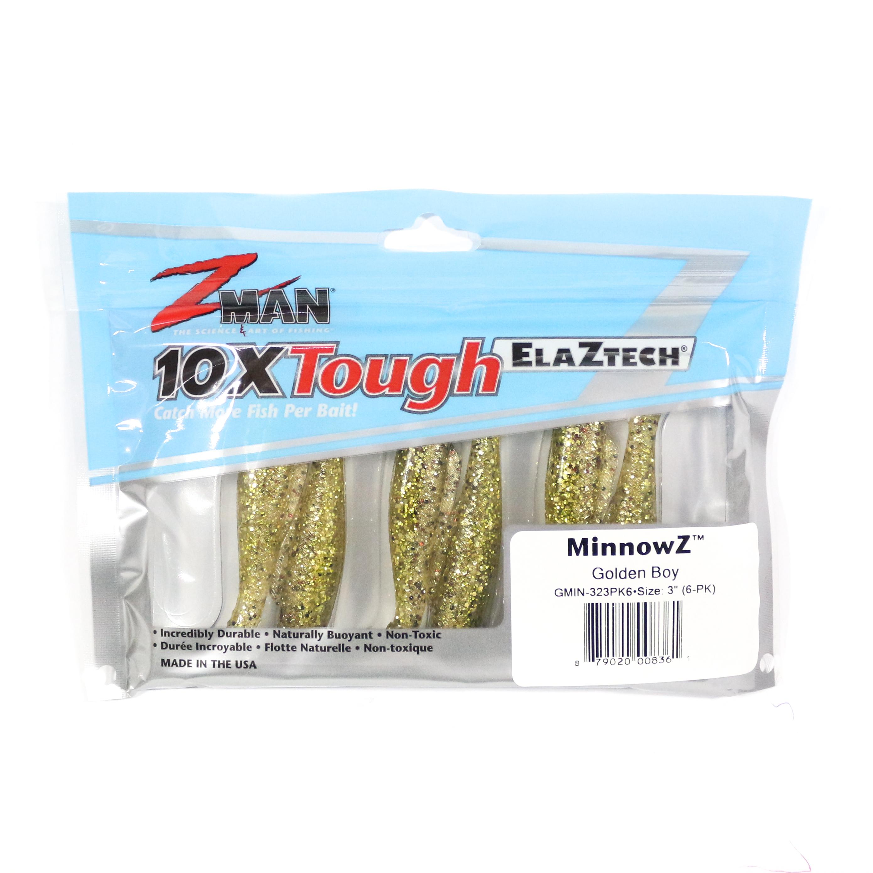 Zman Soft Lure MinnowZ 3 Inch 6 per pack Golden Boy (8361)